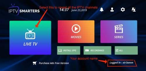 iptv smarters Playlist interface