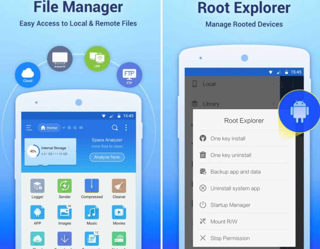 reveal wi-fi password with android  using ES File Explorer