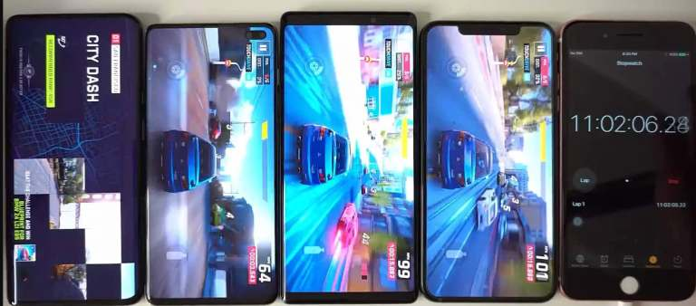 4 2019 flagship phones battery test with gameplay