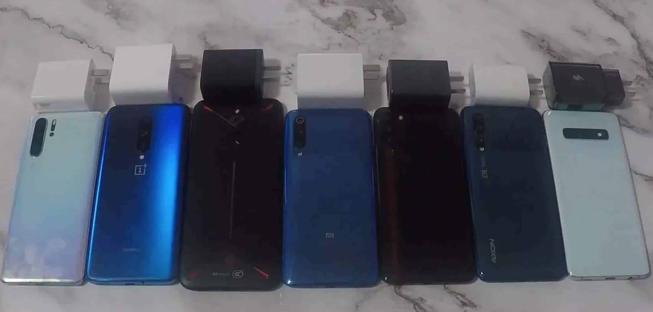 7 Mobile Phones Fast Charging Comparison Test: Xiaomi 9 Emerges the Winner