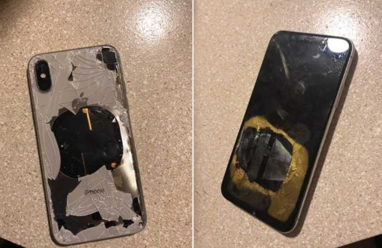 iPhone x battery explosion