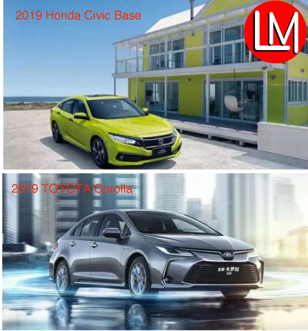 """Toyota Corolla vs Honda Civic 2019 Features: 2 family Cars """"Masterpieces""""- Which is more Desirable?"""