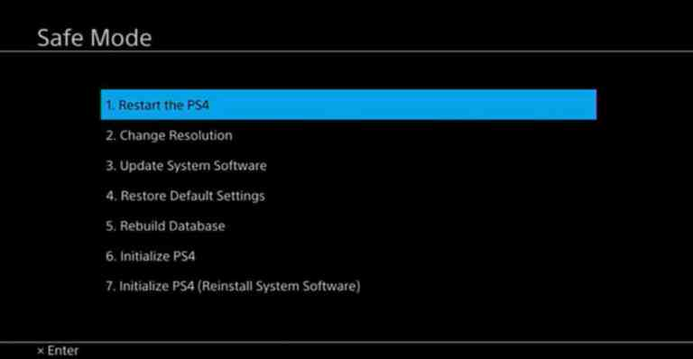 boot ps4 in safe mode to fix eject issues