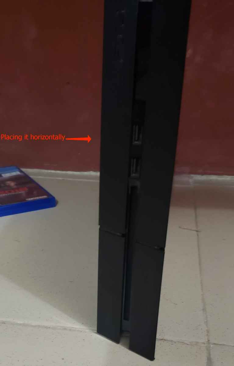 place your ps4 vertically