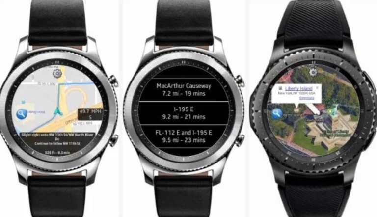 Navigation apps on smartwatches