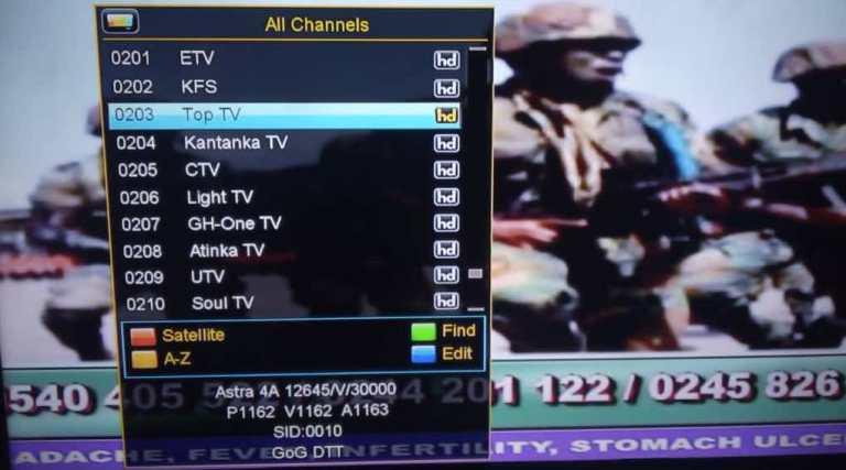 multi tv hidden channels on 28.2e