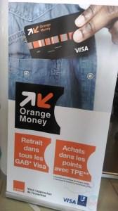 Affiche carte Orange Money Visa