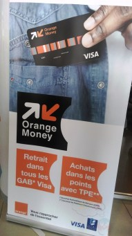 Affiche carte Orange Money Visa