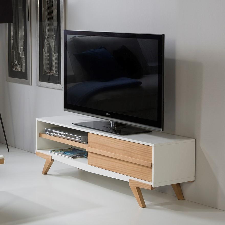 candy meuble tv blanc