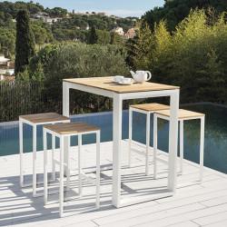ensemble table haute de jardin et tabourets de bar fermo lemobilierdejardin fr