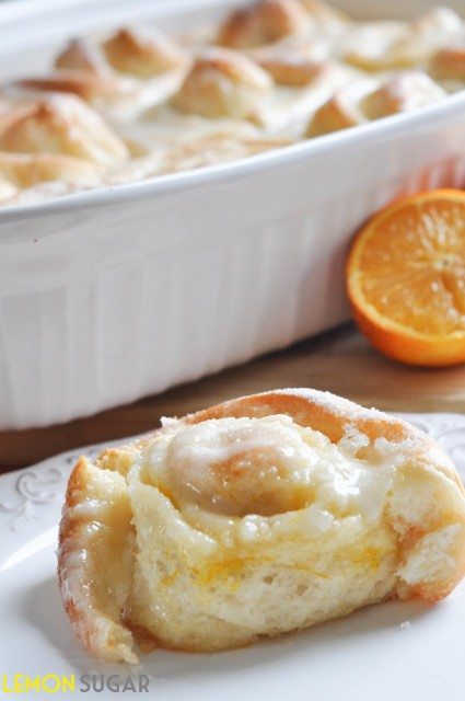 Orange Sweet Rolls by Lemon Sugar