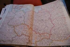 Mapa Polski z 1958