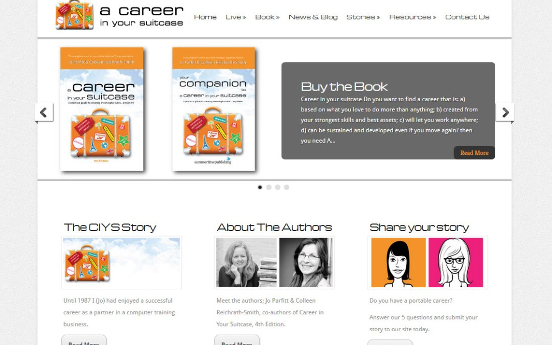 A Career in Your Suitcase website is LIVE!