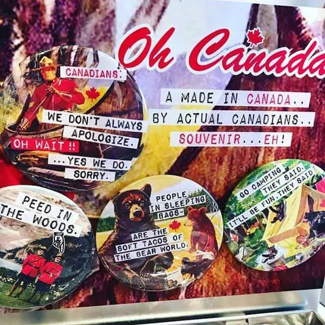 Vintage Vibe Canadian Magnets