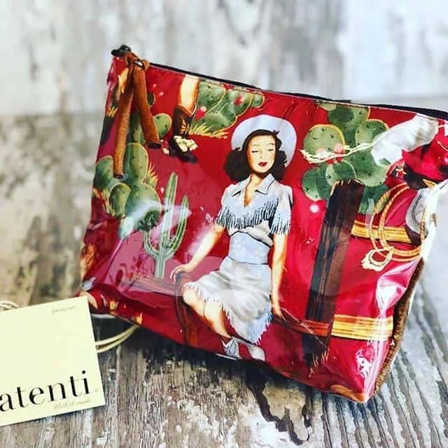 Retro Cowgirl Accessory Bag by Atenti Bags