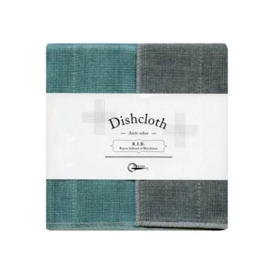 Nawrap Turquoise Dishcloth w/ Binchotan Charcoal
