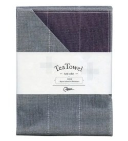 Nawrap Tea Towel Purple w/ Binchotan Charcoal