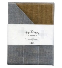 Nawrap Tea Towel Tea Brown w/ Binchotan Charcoal