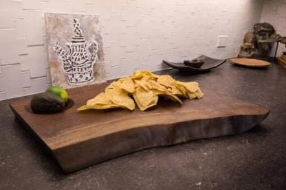 Hand Carved Black Walnut Dip Board
