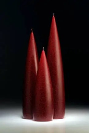 Tall Berry Red Barrick Design Candles at Lemonceillo Home & Gift