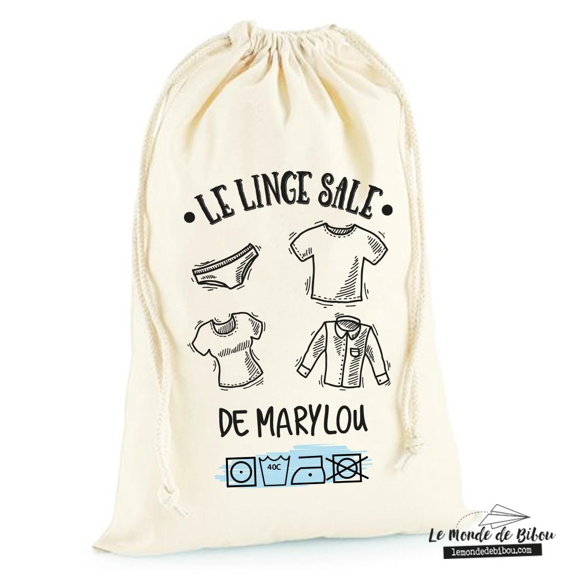 Sac A Linge Sale Personnalise Le Monde De Bibou Cadeaux Personnalises