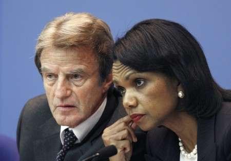 Bernard Kouchner et CondoleezzaRice
