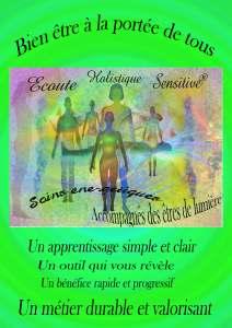 Formation en développement personnel et de thérapeutes : Ecoute Holistique Sensitive®.