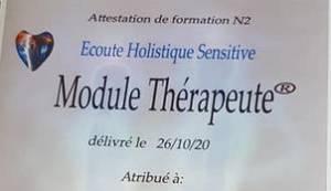 validation devenir thérapeute Ecoute Holistique Sensitive