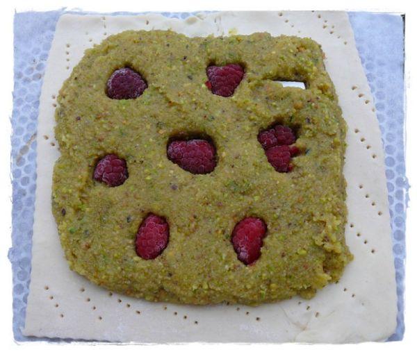 galette des rois framboises pistache