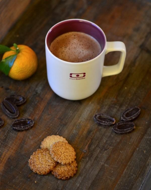 chocolat chaud aux clémentines et au miel