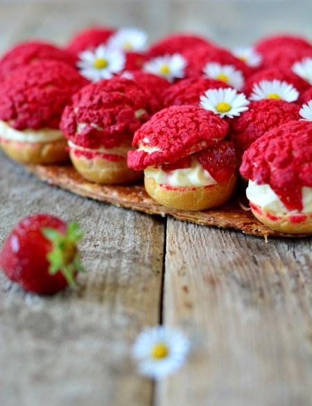 choux crème cardamome et fraises