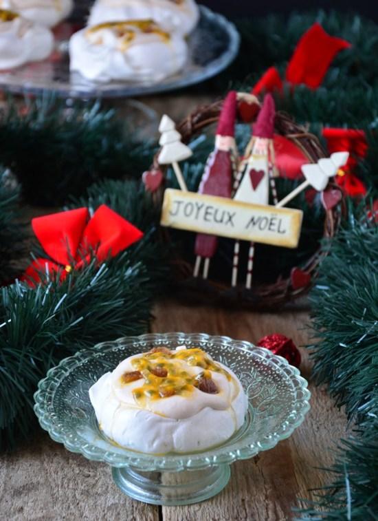 pavlova crème de marron et fruits de la passion