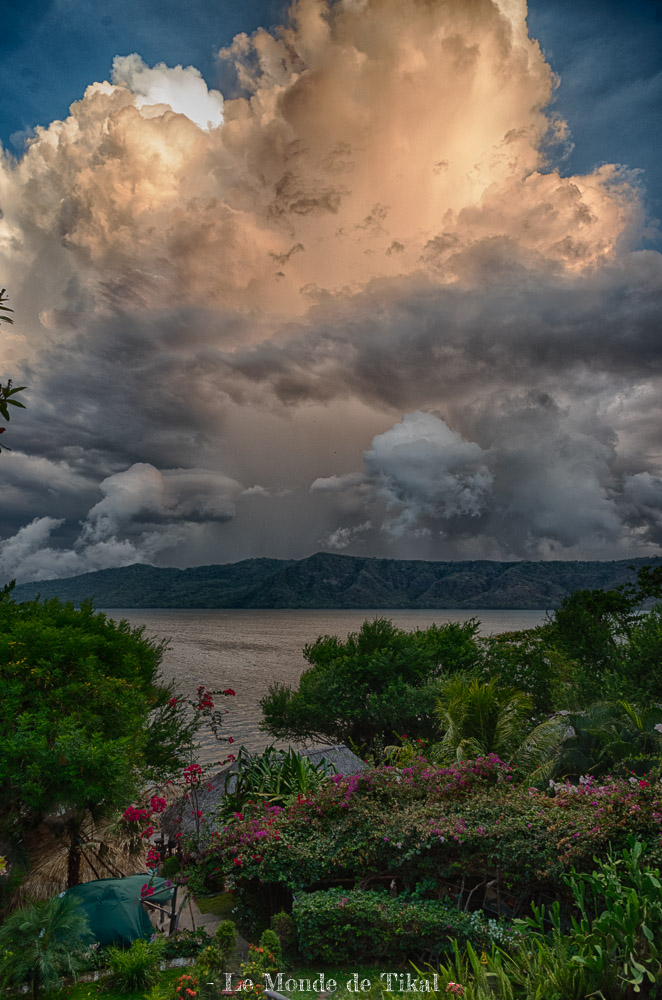 nicaragua laguna de apoyo lagune lac hdr nuages clouds