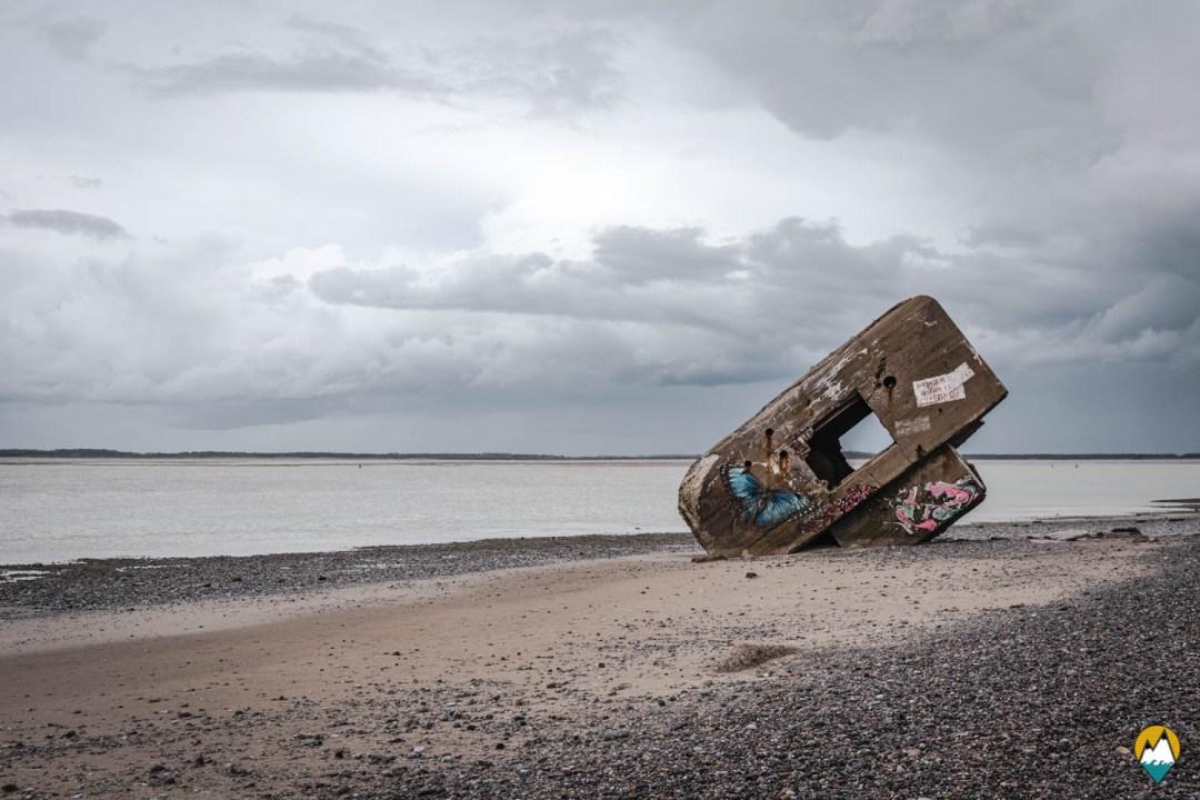 Baie de Somme - Pointe du Hourdel - bunker