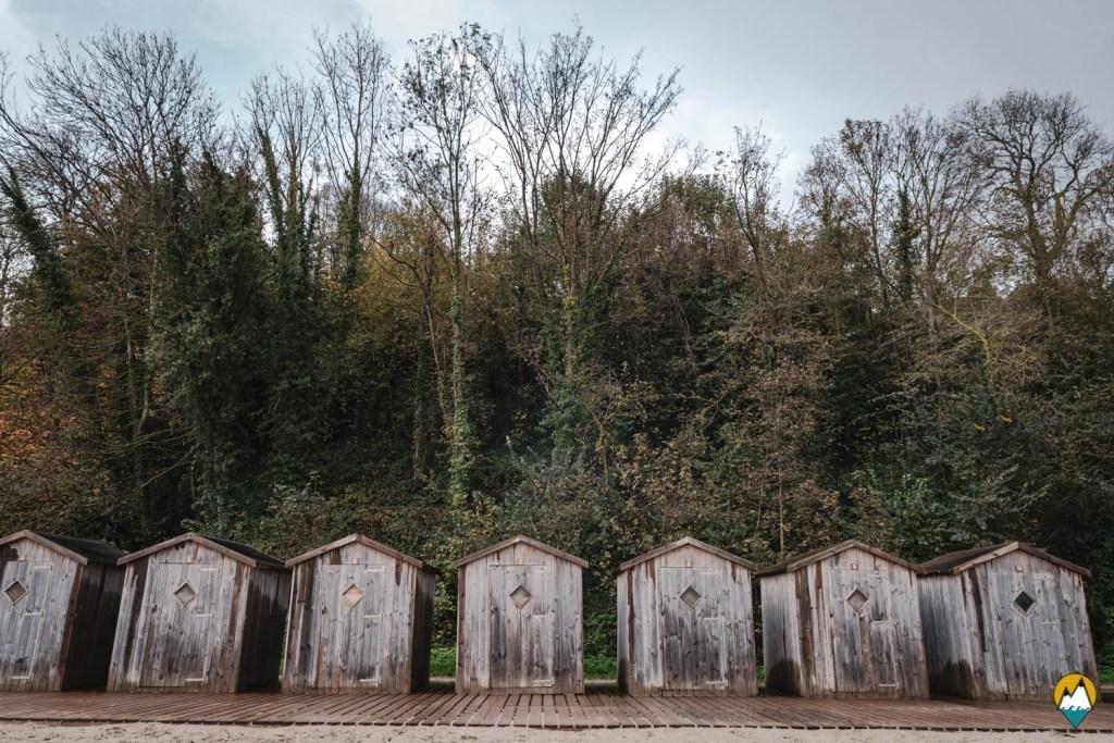 Baie de Somme - Saint-Valéry-sur-Somme - Cabines en bois