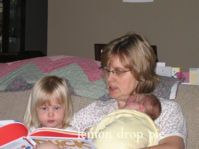 reading to Lily