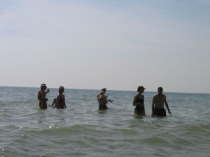Swimming in Lake Michigan