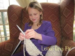 Lily knitting