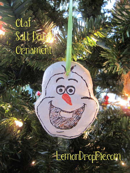 Olaf Salt Dough Ornament