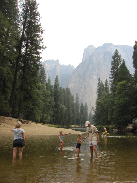 swimming in Merced River