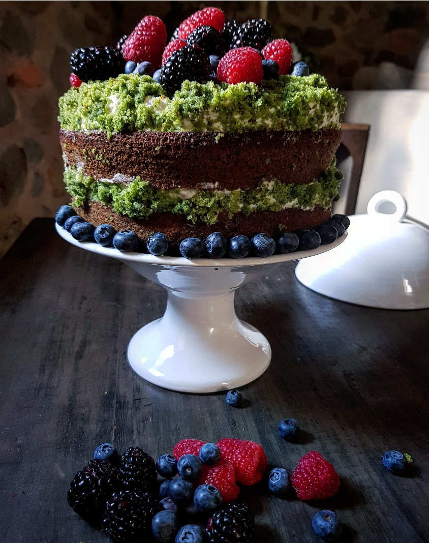 moss forest cake