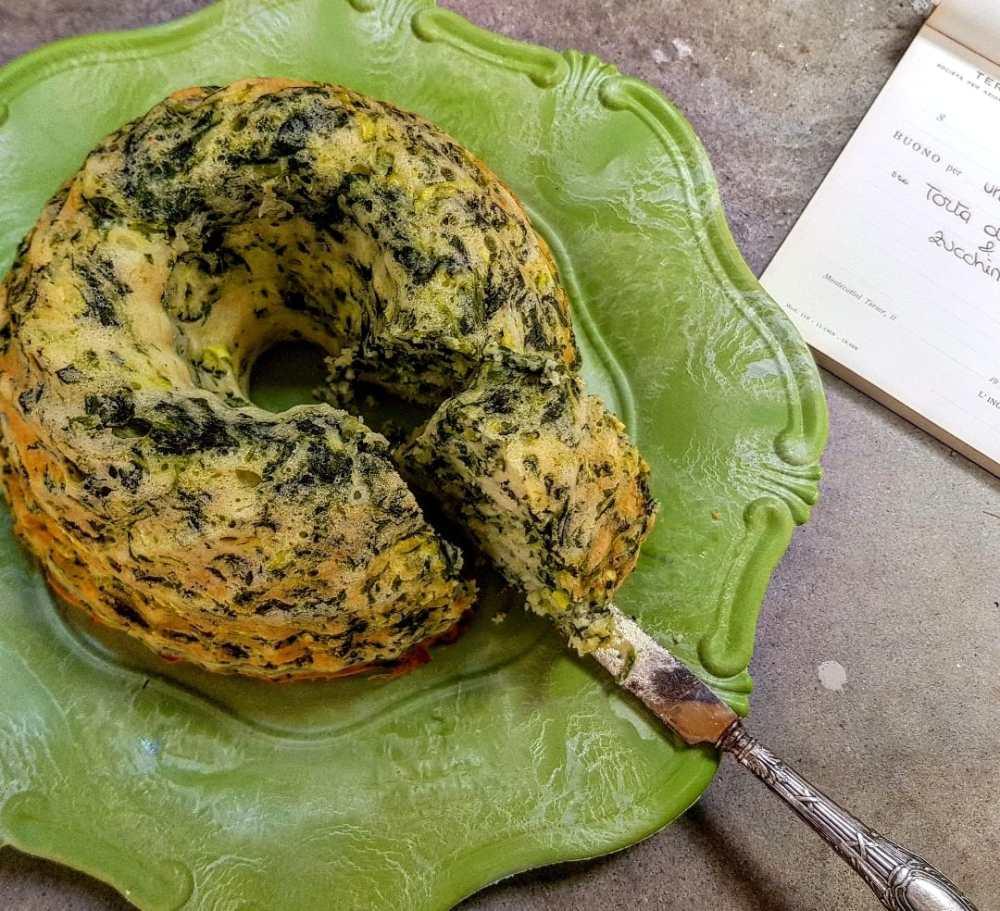 torta salata spinaci e zucchine