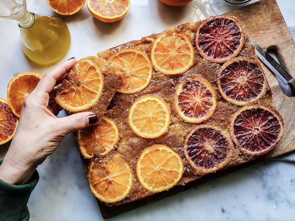 torta alle arance ed olio extravergine di oliva