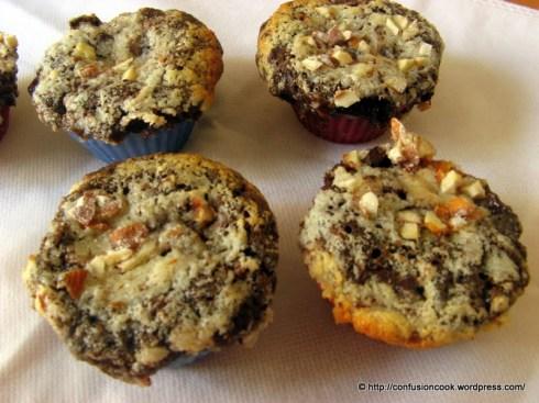 Eggless Chocolate Coconut Cream Cheese Layered Cupcakes