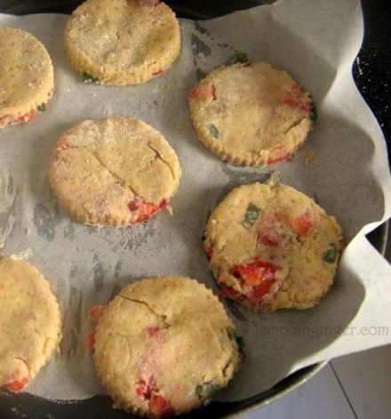 Strawberry Shortcake Scones with Vanilla Glaze