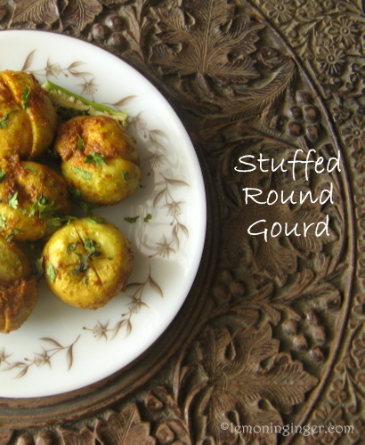 Stuffed Round Gourd with Lentil