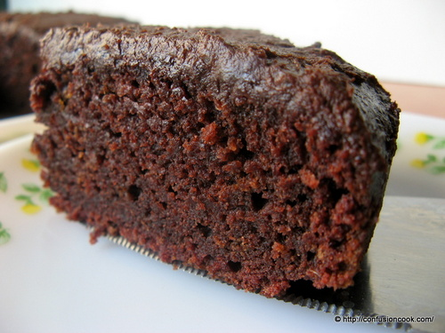 Eggless Chocolate Beetroot Cake with Lacquer Chocolate Glaze