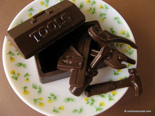 Molded Chocolate in Tools Shape