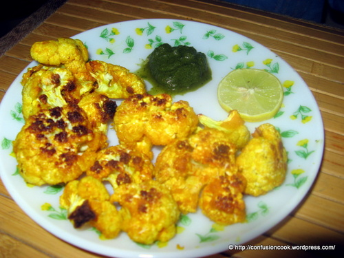 Marinated & Grilled Cauliflower Roasted in Semolina
