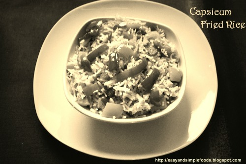 Capsicum Freid Rice